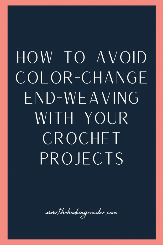 weaving the ends of color changes