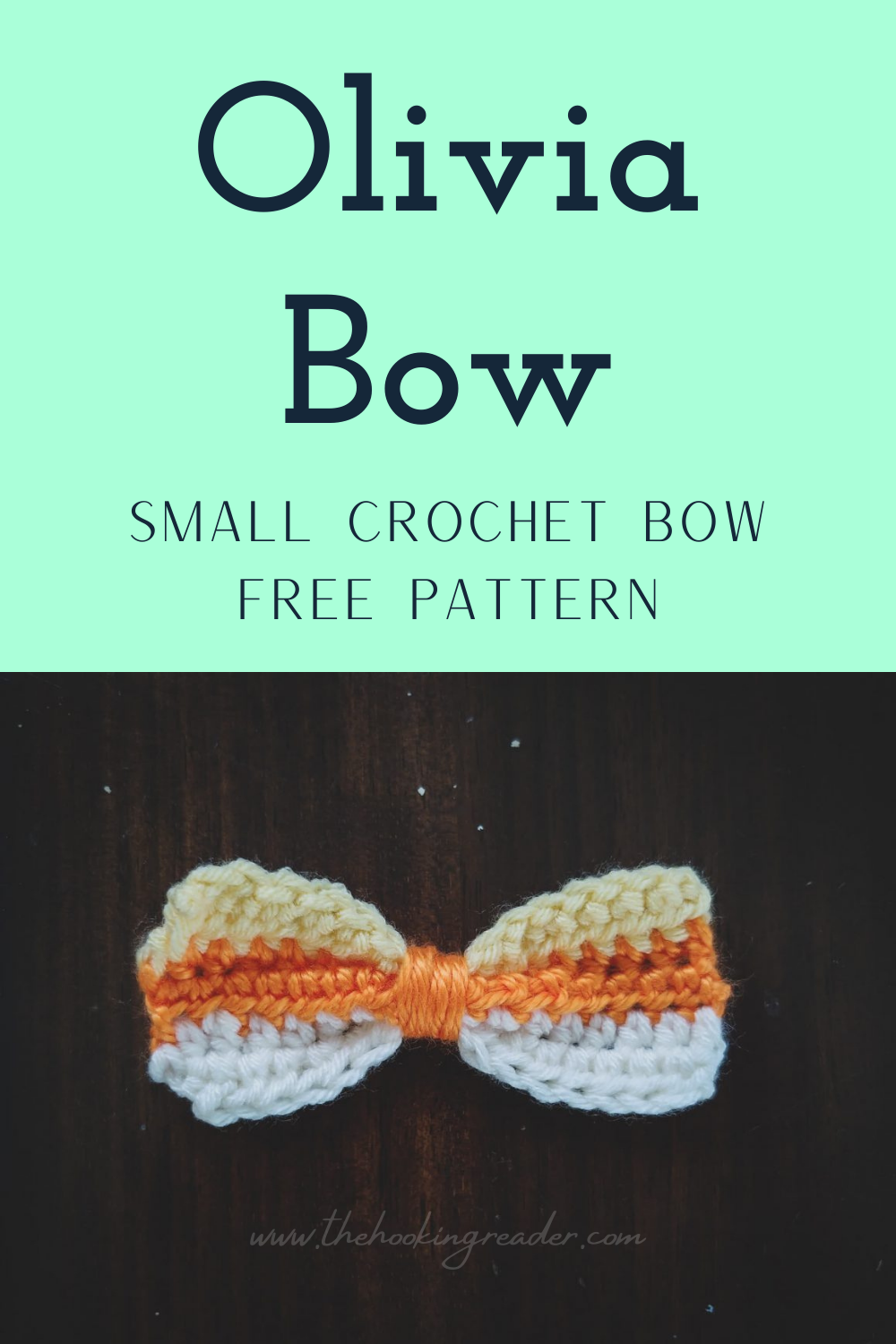 Small Crochet Bow Pattern – The Olivia Bow