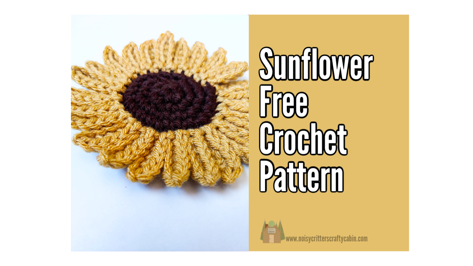 Sunflower Free Crochet Pattern
