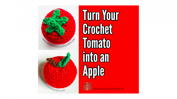 crochet tomato into an apple