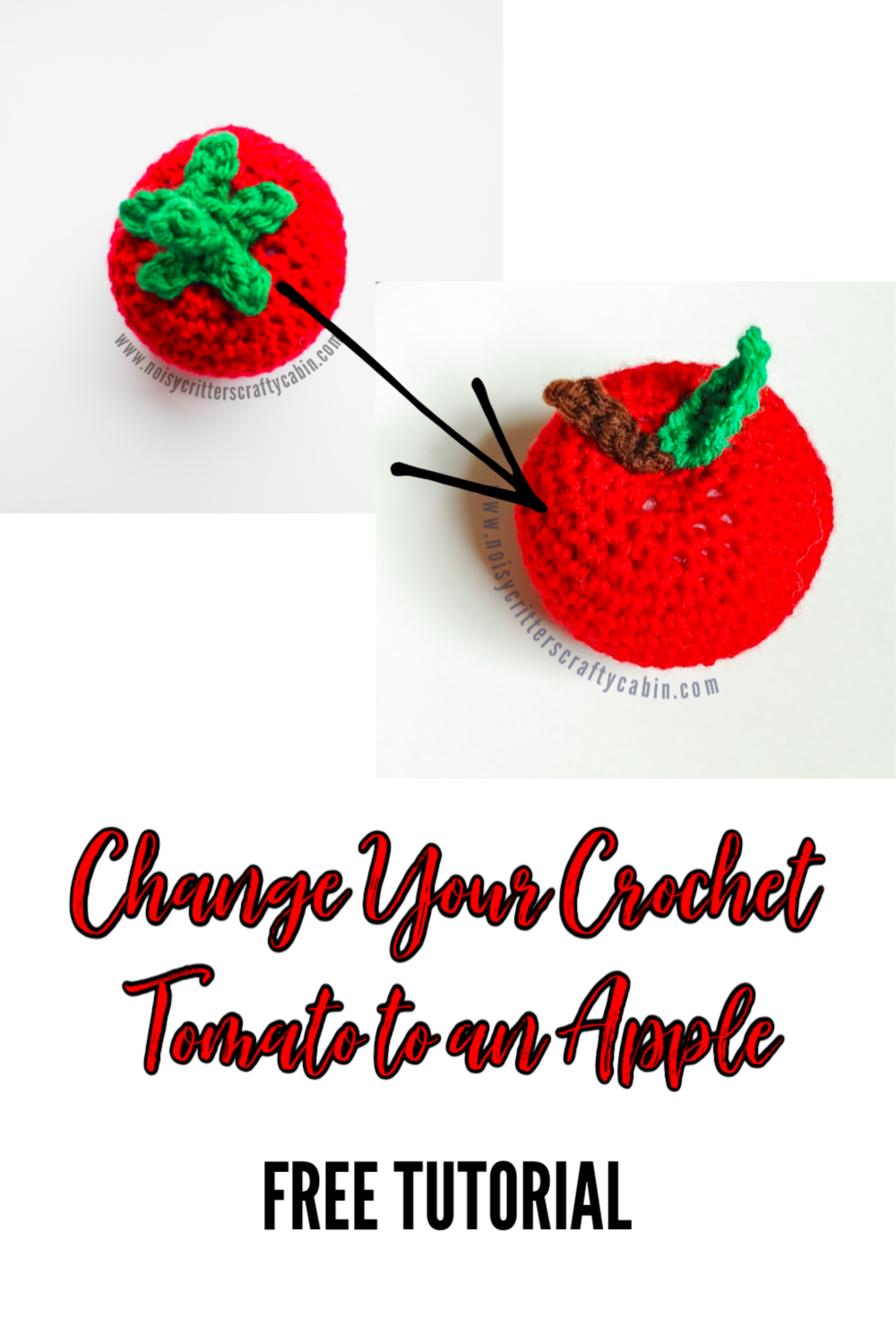 Turn Your Crochet Tomato into an Apple