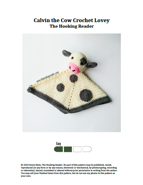 example of cover page for crochet pattern