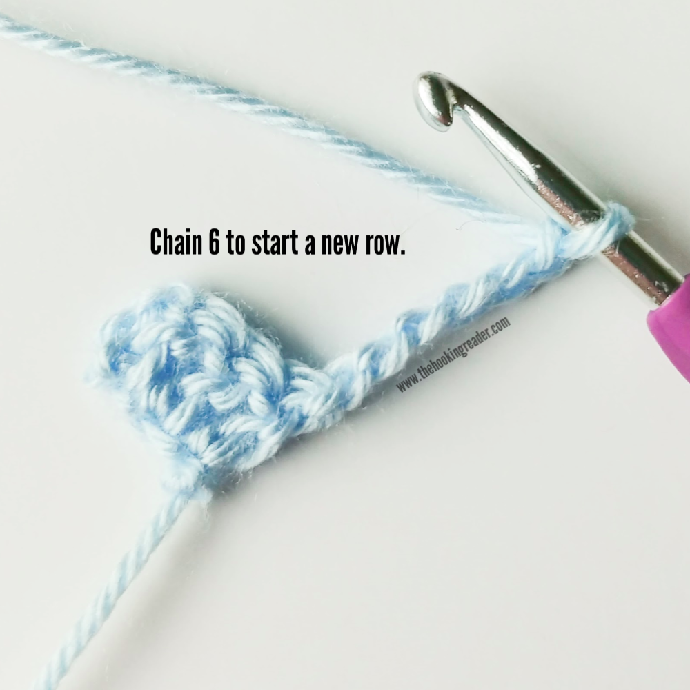 crochet hook, crochet, new row, chain