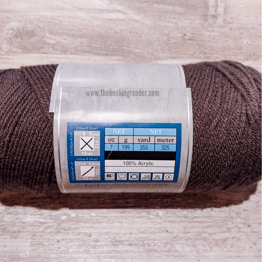 yarn label including yardage in crochet patterns