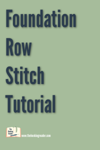 foundation row crochet tutorial