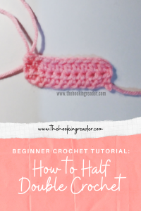 how to half double crochet, beginner crochet tutorial
