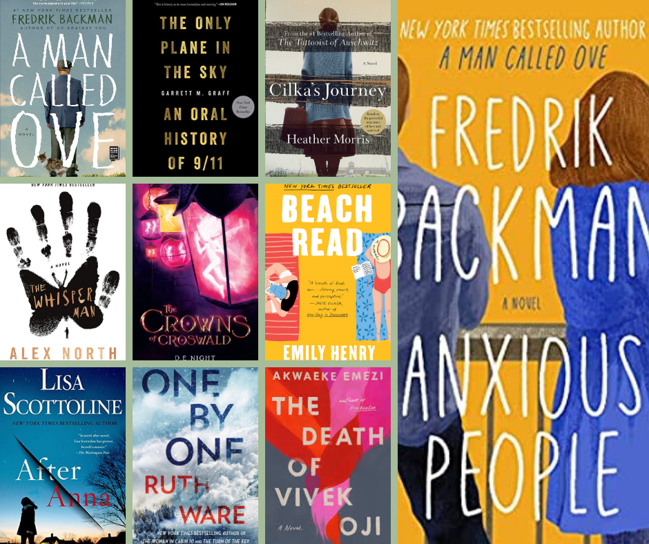 september book summary - all of the books I read in september, a man called ove, the only plane in the sky, cilka's journey, anxious people, the whisper man, the crowns of croswald, beach read, after anna, one by one, the death of vivek oji