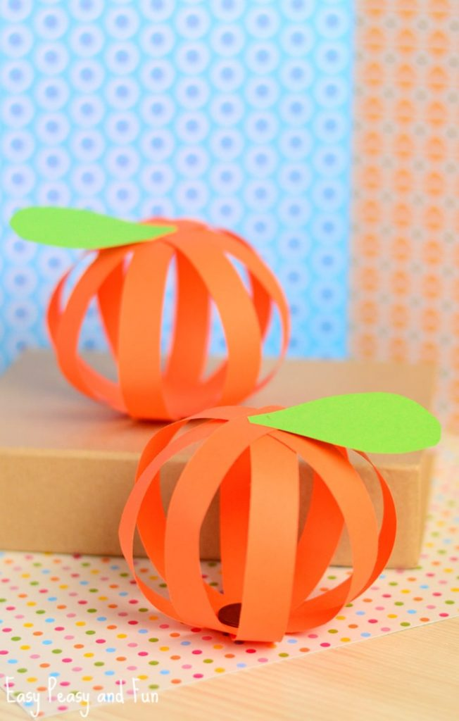 paper pumpkin craft