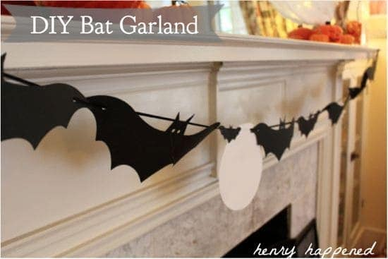diy bat garland halloween at home