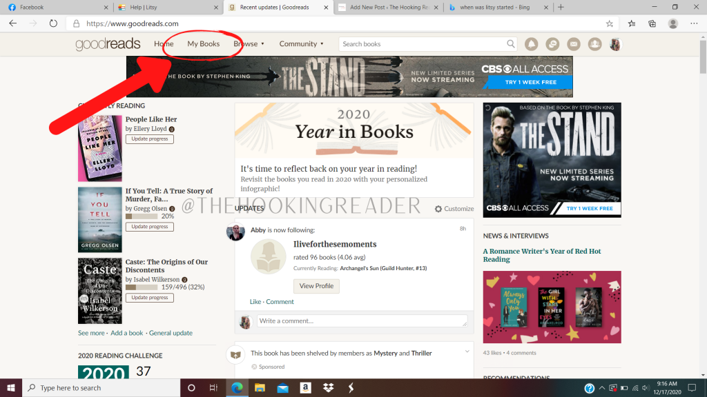 how to import Goodreads lists to Litsy