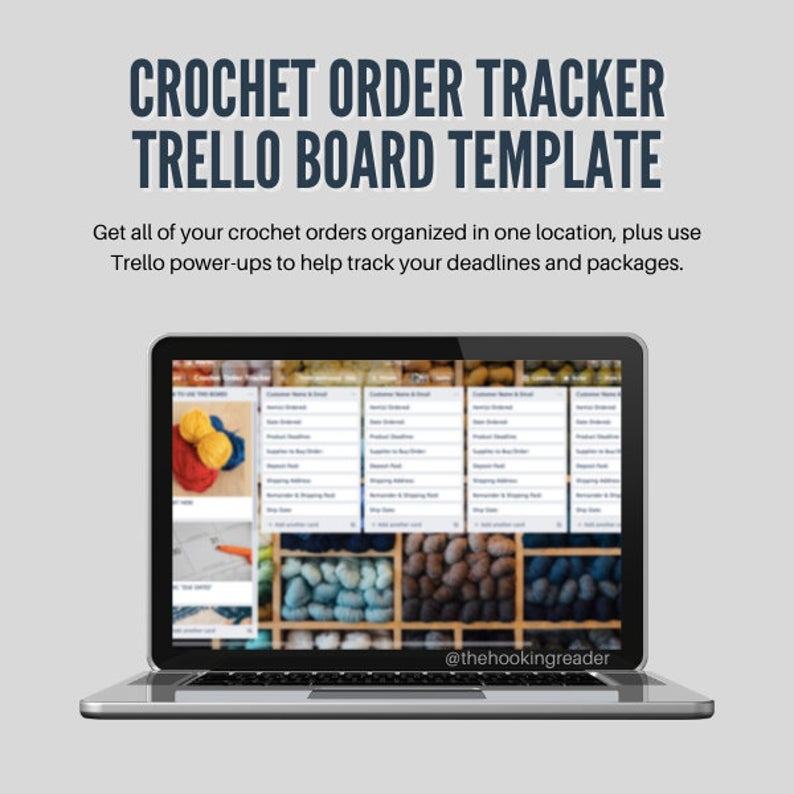 crochet order tracker trello board template