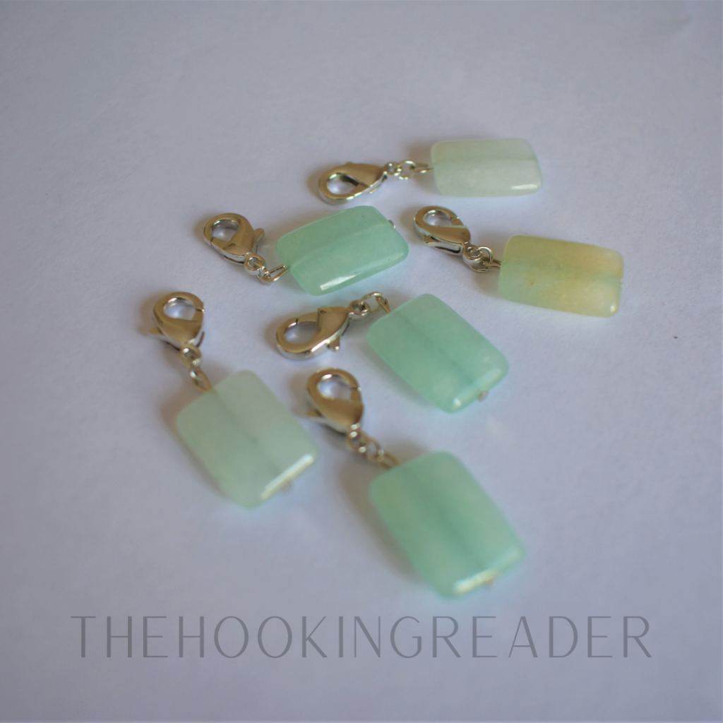 glass stitch markers with lobster clasp