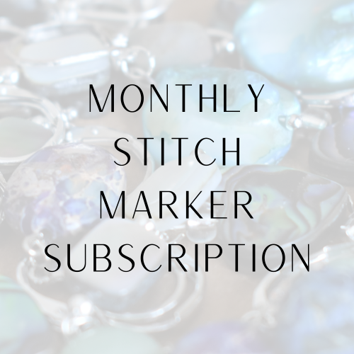 monthly stitch marker club subscription