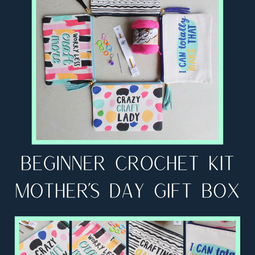 beginner crochet kit mother's day gift box