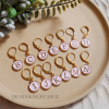 hook hints stitch markers pink